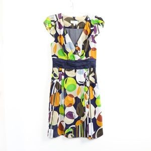 Moulinette Soeurs Anthro dress abstract print wrap